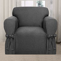 Kathy Ireland Evening Flannel Chair Slipcover