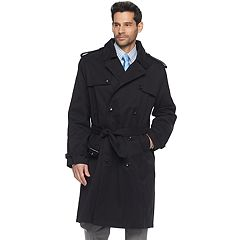 Men's Tower by London Fog Raised Twill Double-Breasted Rain Coat