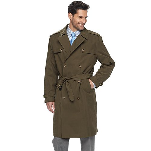 Men's Tower by London Fog Raised Twill Double-Breasted Rain Jacket