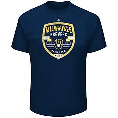 Big & Tall Majestic Milwaukee Brewers Savor the Victory Tee