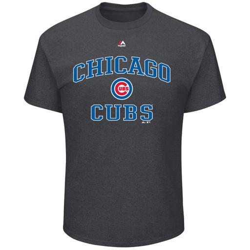 Big & Tall Majestic Chicago Cubs Heart & Soul III Tee