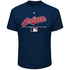 Big & Tall Majestic Cleveland Indians Team Drive Tee