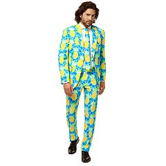 Men's OppoSuits Slim-Fit Shineapple Suit & Tie Set