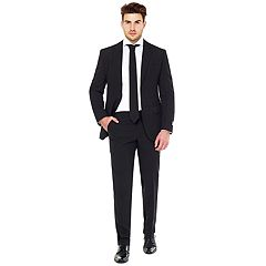 Men's OppoSuits Slim-Fit Black Knight Testival Suit & Tie Set