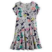 Disney's Minnie Mouse Girls 4-10 Twist Cold Shoulder Sleeve Skater Dress by Jumping Beans®