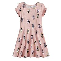 Disney's Minnie Mouse Girls 4-10 Twist Cold Shoulder Sleeve Sprinkle Skater Dress by Jumping Beans®