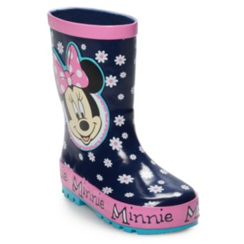 Disney's Minnie Mouse Toddler Girls' Waterproof Rain Boots