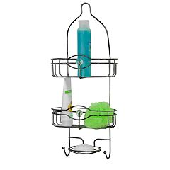 Home Basics Black Onyx Shower Caddy