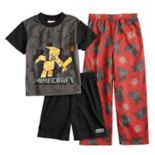 Boys 6-12 Minecraft Spider 3-Piece Pajama Set