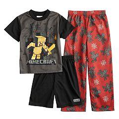 Boys 6-12 Minecraft Spider 3-Piece Pajama Set
