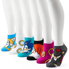 Women's Sonic The Hedgehog 6-Pack No-Show Socks