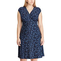Plus Size Chaps Floral Empire Dress
