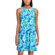 Plus Size Chaps Print Sheath Dress