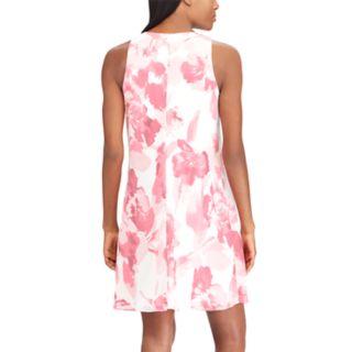 Petite Chaps Print Sheath Dress