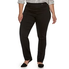 Plus Size Utopia by HUE Pintucked Twill Skimmer Leggings