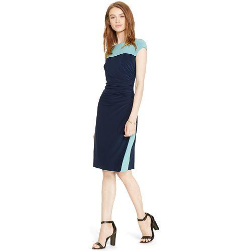 f38d0d7d Women's Chaps Colorblock Ruched Sheath Dress