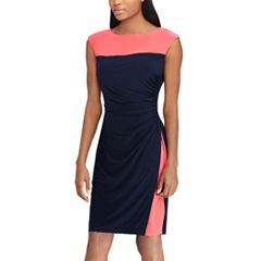 Women's Chaps Colorblock Ruched Sheath Dress