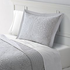 Home Classics® Anna Contrast Stitch Quilted Sham
