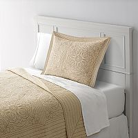 Home Classics® Anna Contrast Stitch Quilted Sham