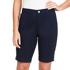 Women's Gloria Vanderbilt Violet Twill Bermuda Shorts