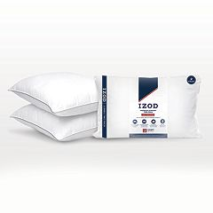 IZOD Any Position 2-pack Cotton & Down Alternative Jumbo Bed Pillows