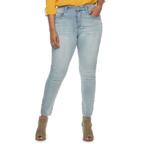 Juniors' Plus Size Mudd® High-Waisted Ankle Jeggings