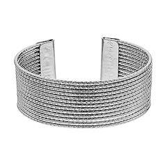 Textured Multi Row Cuff Bracelet