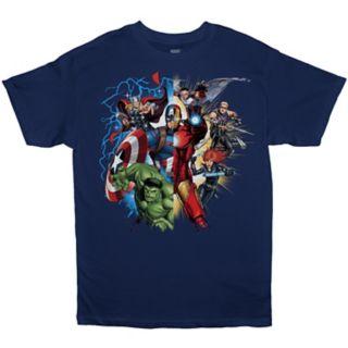 Boys 8-20 Marvel Comics Heroes Tee
