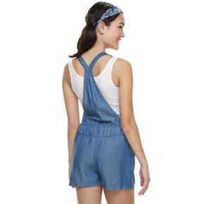 Juniors' SO® Chambray Romper