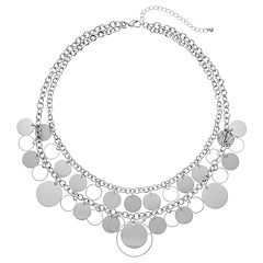 Disc Multi Strand Necklace