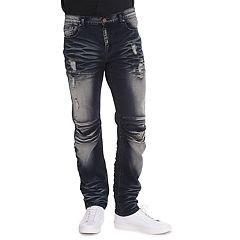 Men's True Luck Renny Skinny Moto Jeans