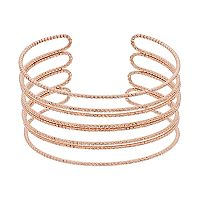 Rose Gold Tone Wire Cuff Bracelet