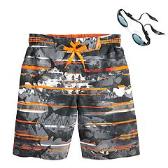 Boys 4-7 ZeroXposur Sharks Abstract Swim Trunks