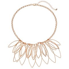 Oval Link Nickel Free Cluster Statement Necklace
