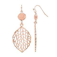 Stone & Leaf Nickel Free Drop Earrings