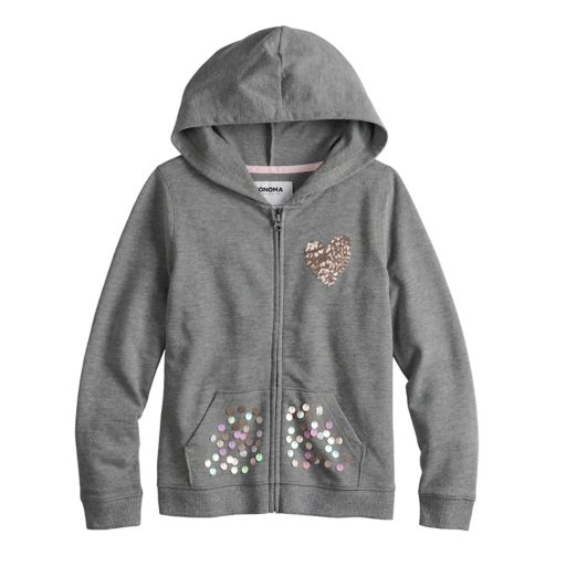 Girls 4-12 SONOMA Goods for Life™ Embellished Hoodie