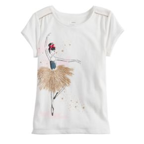 Girls 4-12 SONOMA Goods for Life? Shirred-Shoulder Graphic Tee
