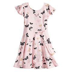 Girls 4-12 SONOMA Goods for Life™ Butterfly Faux-Wrap Dress