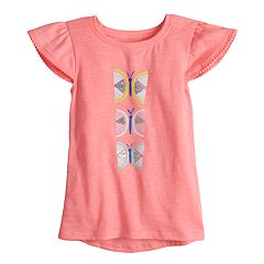 Toddler Girl Jumping Beans® Glittery Butterfly Graphic Tee