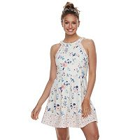 Juniors' Rewind Textured Skater Dress
