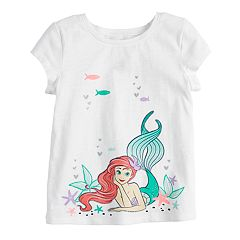 Disney's The Little Mermaid Ariel Toddler Girl Glittery Graphic Tee by Jumping Beans®