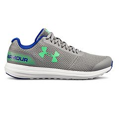 official photos 7a8bd 7d97e Under Armour Surge Grade School Boys  Running Shoes. Steel White Green