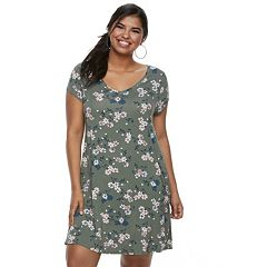Juniors' Plus Size SO® Cross-Back Swing Dress
