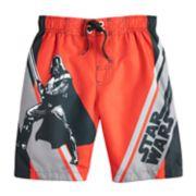 Boys 4-7 Star Wars Darth Vader Swim Trunks