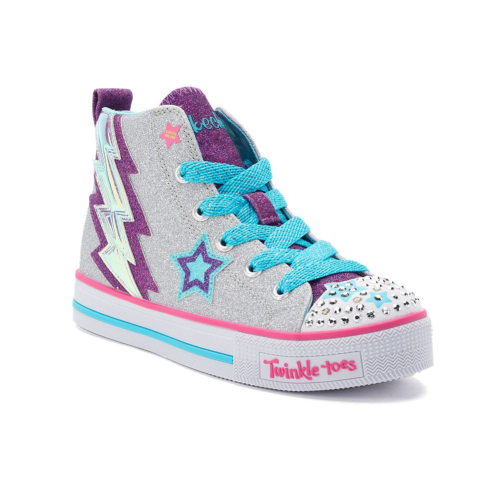 2dff679a18ce Skechers Twinkle Toes Twinkle Lite Lightning Sparks Girls  Light Up Sneakers