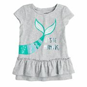 Toddler Girl Jumping Beans® 'Let's Be Mermaids' Foiled Graphic Tee