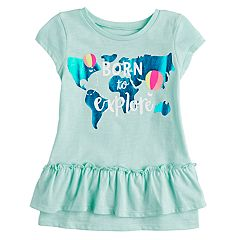Toddler Girl Jumping Beans® 'Born To Explore' Map Graphic Tee