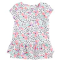 Toddler Girl Jumping Beans® Print Ruffled-Hem Top