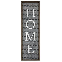 Farmhouse 'Home' Galvanized Metal Wall Decor