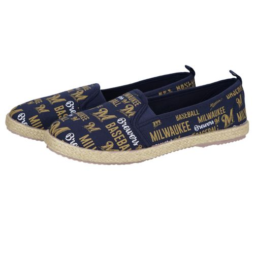 Women's Forever Collectibles ... Milwaukee Brewers Espadrilles